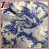 Porcelain Pattern Print 30% Silk 70% Cotton Transparent Fabric