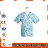 New Style Cotton Medical Scrub Uniform Anti-Baterial Short Sleeve