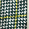 Check Houndstooth Wool Fabric Green & Yellow