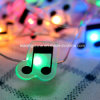 Music Shape Fairy String Lights AA Battery Powered Long Ultra Thin String Copper Wire for Christmas