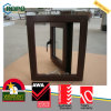 Wooden Color UPVC Profile Double Glazed Windows