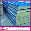 Insulated Fireproof Rock Wool Sandwich Panel Wall Panels Customized Composite Panel
