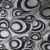 Chenille Gemotrial Furniture Fabric by Black Color