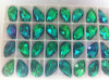 Emerald Flat Back Glass Beads Buttons