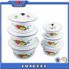 14-28 Cm White Color Enamel Washing up Bowl with Lid