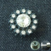 Women Jeans Fix Metal Button for Ladies Denim