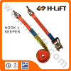 Polyester Webbing Ratchet Tie Down with Hook & Keeper