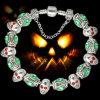 Halloween Gifts Skull Charm Beads Bracelet Jewelry