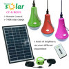 CE Approved Portable 3W PC 3W Solar Powered LED Light Bulb for Home Lighting