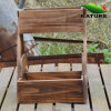 Basket Wood Flower Planter for Garden