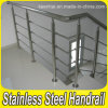 Brushed Finish Dia 30.8mm 304 Stainless Steel Stair Railing