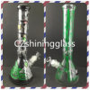 Color Paper Printed Beaker Glass Smoking Water Pipe