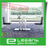Tempered Glass Dinner Table with Aluminum Alloy Legs