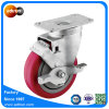Ball Bearing 4inch Red PU Swivel Wheel Casters