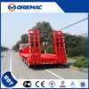 13m 3 Axles Lowbed Semi Trailer 50ton for Construction Machines