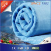 EU Market 100% Polyester Pure Blue Electric Heated Blanket
