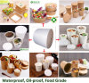 15GSM+170GSM+15GSM Double Sides PE Coated Paper for Cold Drinkngs Cup