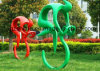 Abstract Sculpture, Decorative Art of People Riding a Bicycle