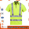 Reflective Strip High Visibility Safety Polo T-Shirt of Cotton