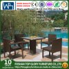 Outdoor Courtyard Garden Leisure Hotel Coffee Dining Furniture with PE Rattan (TG-JW74)