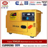 Yihua 5kw Diesel Generator Set Aire Cooled with 4 Wheels, Potable Silent Type