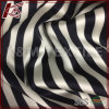 High Elastic Printed Stripe Pattern Raw Silk Satin Fabric