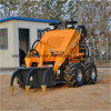 Agricultural Mini Farm Skid Steer Loader with Attachments