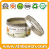 Candle Tin Can with Transparent PVC Window, Gift Tin Box