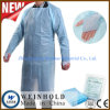 Chemical Protective Polythene Hospital CPE Gowns Embossed