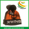 Customized Acrylic Cuffed Winter Knitted Hat with Ball Top