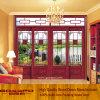 French Door Wooden Tempered Glass Sliding Door (GSP3-008)