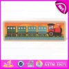 2015 Train Design Wooden Alphabet Puzzle, Educational Wooden Alphabet Puzzle Toy, Wooden Word Shape Puzzle for Learning W14c157