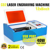 CO2 Laser Engraving Cutting Machine 40W Computer Control