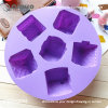 Qinuo Manufactory Violet 6 Houses Food Silicone Baking Molds