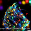 8 Flashing Solar Panel Light Copper Light String for Outdoor Use Xmas String Fairy Light for Party Home Decoration