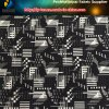Newest Polyester Elastic Diamond Fabric with Geometric Printing for Trousers