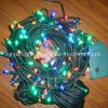 Commercial Dark Green Wire LED String Curtain Christmas Lights