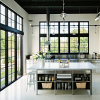Feelingtop Sound Insulation & Heat Insulation Alumunium Wood House Window