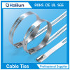 Polyester Coated Ladder Multi Barb Lock Stainless Steel Cable Tie