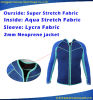 Men 2mm Neoprene Lycra Fabric Jacket Surfing Swimming Wetsuit