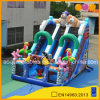 PVC Material Double Lane Pirate Inflatable Climb Slide for Kids (AQ01801)