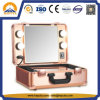 Golden Makeup Case with LED Lights and Mirror (HB-6403)