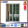 Aluminium Framed Tempered Safety Glass Sliding Window with Screen