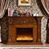 European Furniture LED Lights Wood Electric Fireplace with Heater (328B)