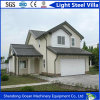 Environment Friendly Light Steel Villa Made of Light Steel Structure with Beautiful Wall Cladding Panel