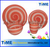 16pcs Ceramic Orange Circle Handpainted Dinner Set (TM01063)