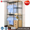 Patent Multi-Functional DIY Bedroom Clothes Wardrobe Storage Cabinet Furniture, Made of Steel Shelf & Wooden Cabinets