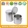 Metal Custom Round Airtight Tin for Tea Caddy Coffee Chocolate