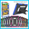 Crashproof Plastic+Silicone Laptop Case with Kickstand for iPad Mini 4