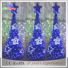 Holiday Blue PVC Artificial Outdoor LED Christmas Tree Decoration Light